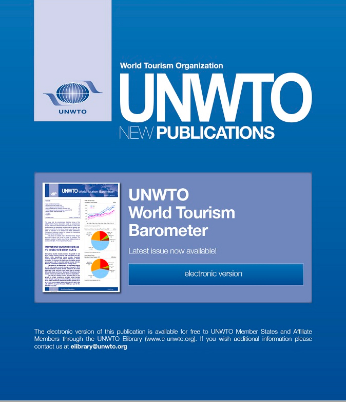 New publications from unwto world tourism barometer abujet 2013 unwto world tourism publicscrutiny Choice Image